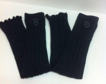 Gray leg warmer/   button Leg warmers boot socks  Boot Cuffs, Boot Toppers, Women Boot Socks, Leg Warmer,    Stretchy, Stockings