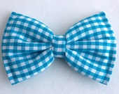 Boys Bow Tie Turquoise Blue Gingham, Newborn, Baby, Child, Little Boy, Great for Special Occasion Wedding or Photo Prop