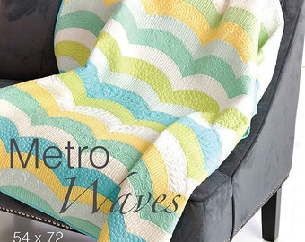 Sew Kind of Wonderful Metro Waves Quilt Sewing Pattern
