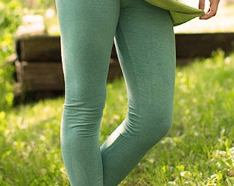 hemp yoga pants-Thistle brush leggings