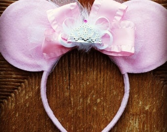 PRETTY PRINCESS Minnie Mouse inspired ears