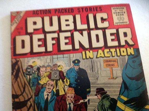 Rare public defender in action 1956 comic book 10 crime passion