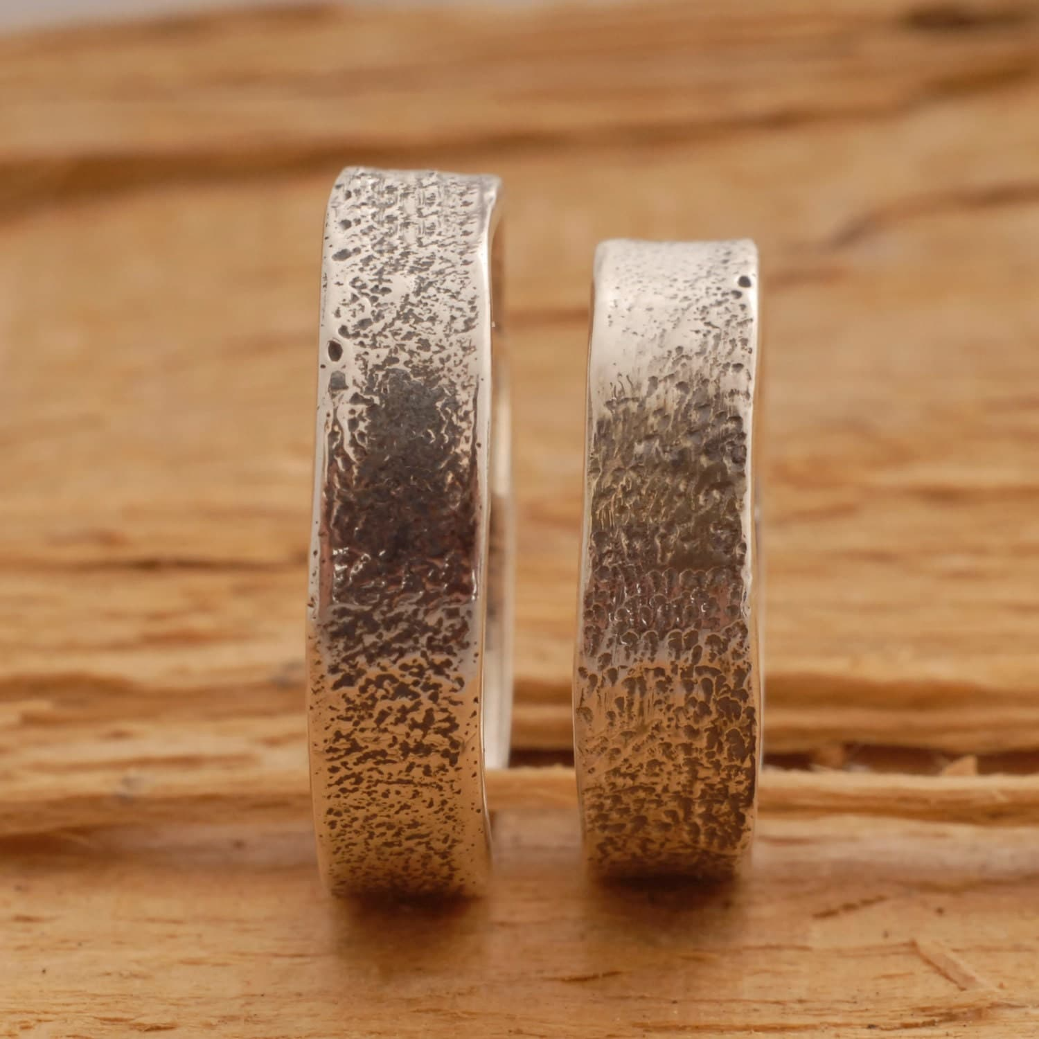rustic sterling silver wedding band set wedding band sets zoom