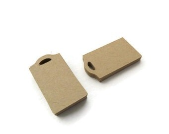 Mini Tags - Hang Tags -  100 Count - 1.25 x 0.7 inches - Kraft Tags - Die Cut Tags - Product Tags - Scrapbook Tags - Jewelry Tags