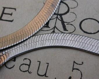 French vintage snake sterling silver 18k gold vermeil  bracelet  stamped bracelet