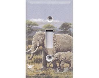 Elephants Light Switch Cover