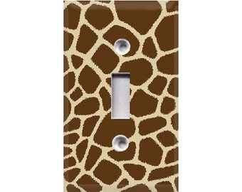 Giraffe Print Light Switch Cover