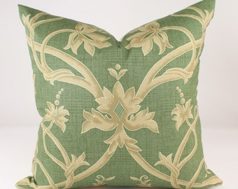 "Brunschwig & Fils LORENZO Pillow Cover in Sage, Accent Pillow, Decorative Pillow, Throw Pillow, Lumbar Sizes and 18"", 20"", 22"", 24"" sq."