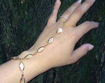 Marquise - Swarovski crystal hand chain