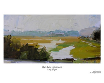 """Rye, Late Afternoon, 11 x 8.5 """" Signed Archival Print"""