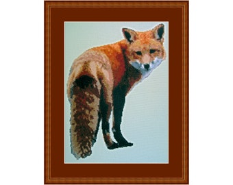 Looking Foxy, Cross Stitch Kit Fox, Animal, Forest