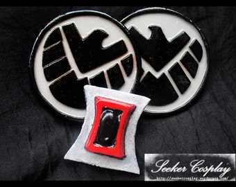 Black Widow Patches And Belt Buckle
