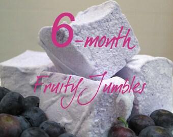 Fruity Jumbles Marshmallow Club - 6 month membership - 1 dozen Gourmet homemade marshmallows