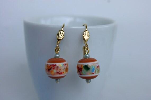 Boucles d'oreille aux couleurs d'automne