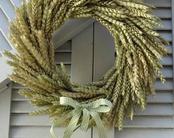 Wheat Wreath - Natural Original Wheat Wreath - Summer Wreath - Hanging Wreath - Wreath For Door