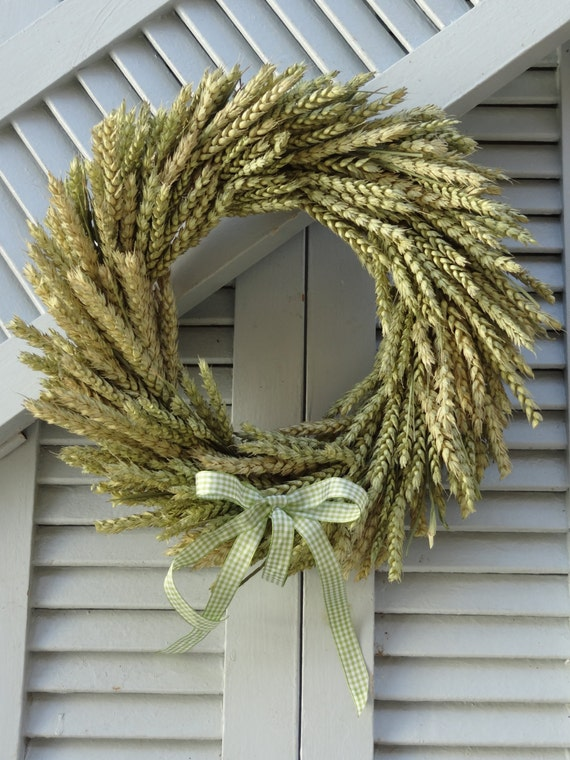 Wheat Wreath Natural Original Wheat Wreath Summer Wreath