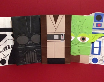 Star Wars inspired birthday party/treat bags