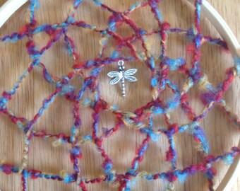 Dragonfly Dreamcatcher handmade by SunChickie Arts