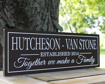 Blended Family Sign, Wedding Gift, Blended Family Gift, Family Name Sign, Personalized Wooden Sign, Family Christmas Gifts, Family Wall