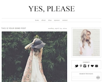 Yes Please -- Premade Blogger Template