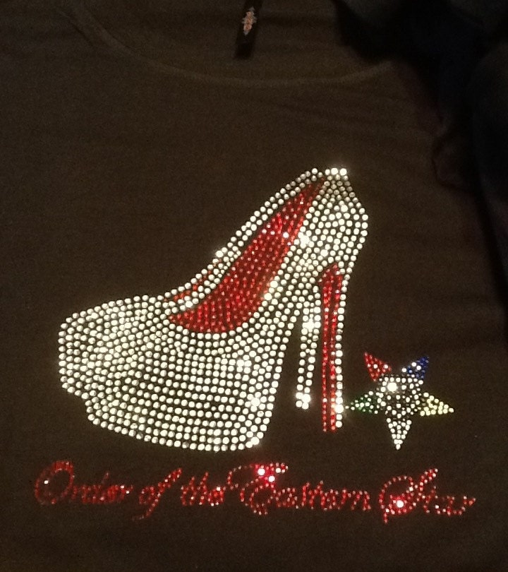 Oes Order Of Eastern Star Bling Rhinestone T Shirts