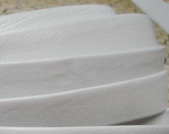 PRE CUTS: Flat 20mm White Genuine Nappa Flat Leather Cord