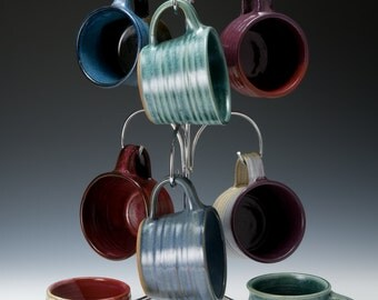 wheel-thrown pottery espresso cups in a variety of shapes. Each one is unique