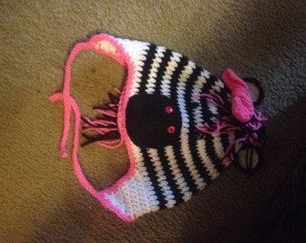Infant/Child Zebra Earflap Hat