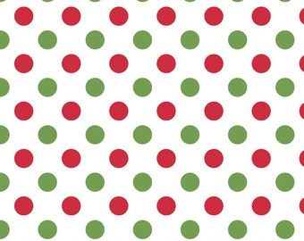 Christmas Dot Knit jersey by Riley Blake from TheSwankyStitchery ...