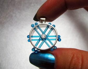 Unique Glass Pendant, Contemporary Jewelry, Modern Pendant, Geometric Jewelry
