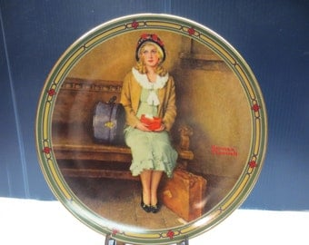 Norman Rockwell A Young Girls Dream Collectors Plate Limited Edition