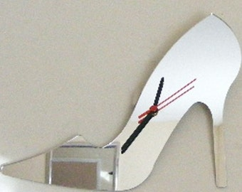 High Heel Shoe Clock Mirror - 2 Sizes Available