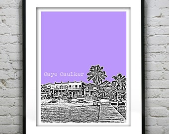 Caye Caulker Belize Poster Art Skyline Print