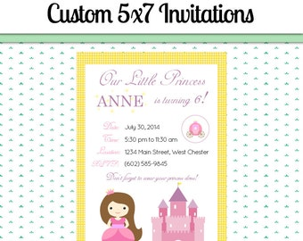 printable digital birthday party invitation filled out and custom text