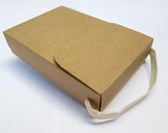 Brown Kraft Box, Gift Box, Kraft Bag Set of 6