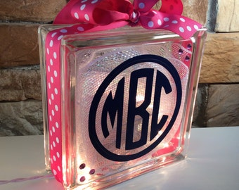 Monogram GemLight, Personalized, Home Decor, Accessories