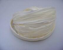 Ivory SilkShibori Ribbon/040
