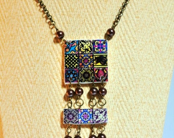 Set, Necklace and Bracelet, with Mexican tiles