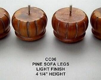 CC06 Bun Furniture Legs Feet Couch Chair Ottoman Sofa Pine Light Wood 4