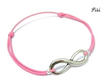 Bracelet pink infinity