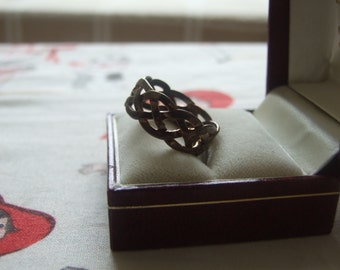 Sterling silver woven ring 120