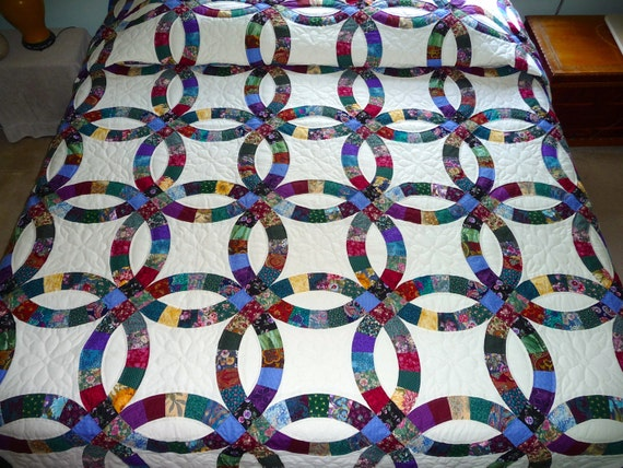 amish wedding ring quilt by quiltsbyamishspirit on etsy