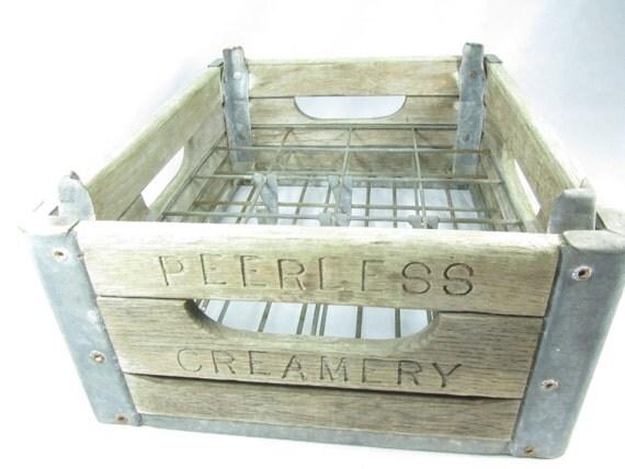 m tal caisse de lait caisse en bois caisse antique bo te de. Black Bedroom Furniture Sets. Home Design Ideas