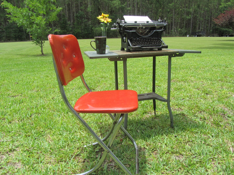 Rose Red Retro Chrome Chairs Home Design Mannahatta Us