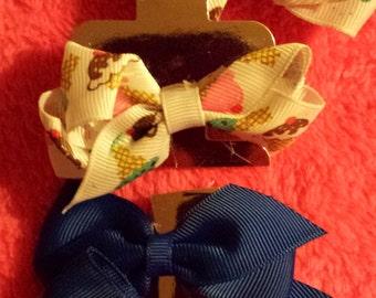 Girls/Baby Girls Hair Bows Set of 4