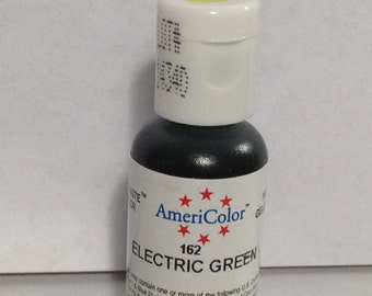 Americolor Gel Paste - Food Color in Electric Green