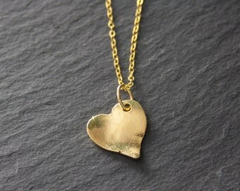 Necklace - Golden Heart 01