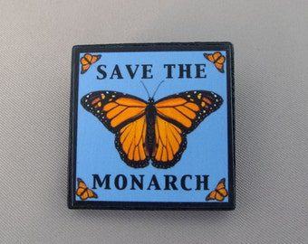 Save the Monarch Butterfly Jewelry Brooch Pin
