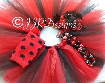 Ladybug Tutu- Red Black Tutu-Tutu- Red Tutu- Ladybugs Tutu