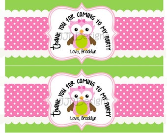Bubbles Owl Label-Owl Favor Label- Bubbles Owl Label-Thank you for Coming Owl Label- Owl Bubbles Label